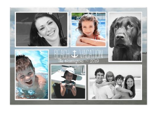 Multi photo vacation cards