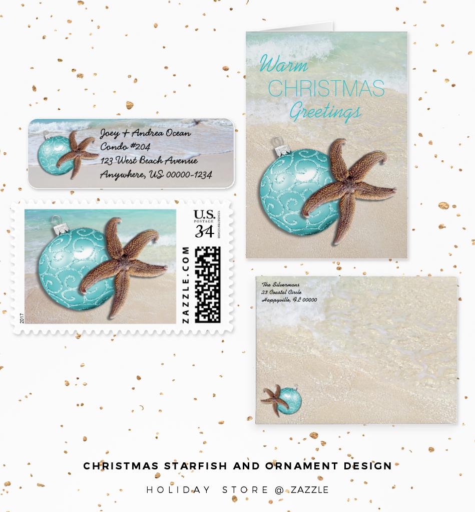 starfish and ornaments design
