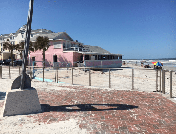 Pink Breakers restaurant on the beach