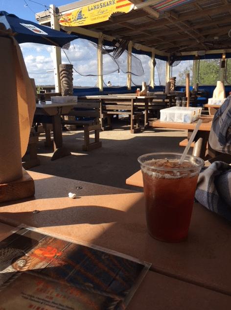 outdoor dining at JB's fish camp restaurant