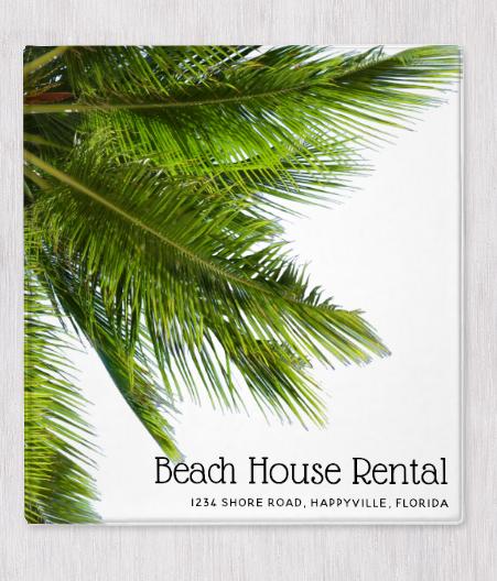 Palm fronds rental binder