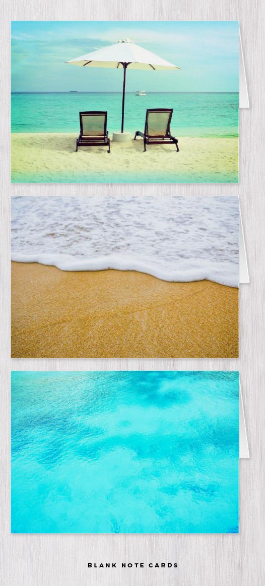 beach note cards