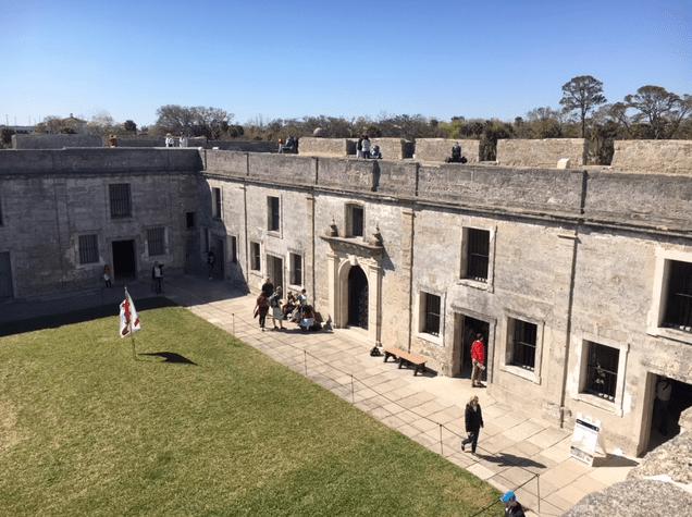 inside the Castillo de San Marcos fort