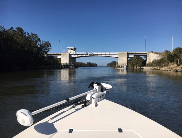 Haulover canal bridge