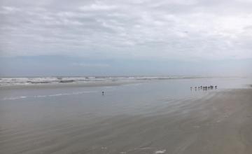 Florida beach in February
