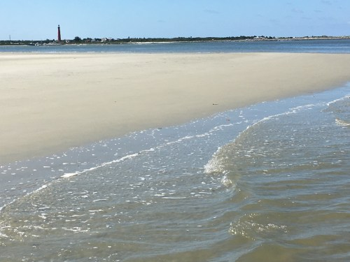 Ponce lighthouse beach water