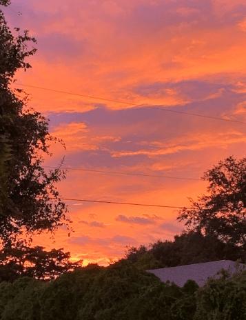Sunset after Dorian