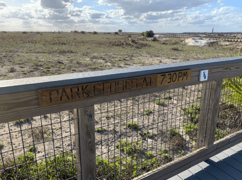 Park closes sign