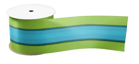 Wide stripes blue green ribbon decorating bows wrapping gifts
