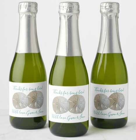 Wedding wine or champagne custom labels
