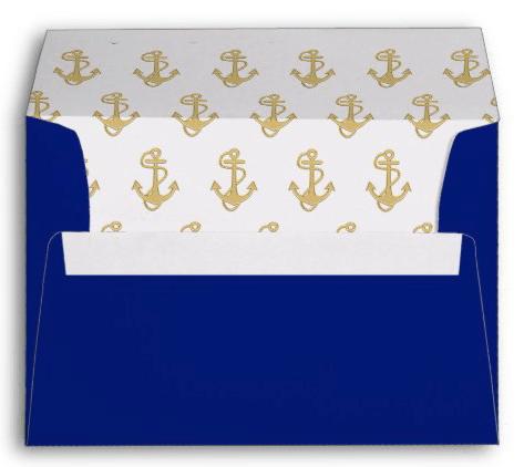 navy blue envelopes anchors return address template