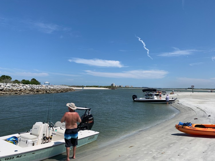 rocket launch boating Ponce Inlet island