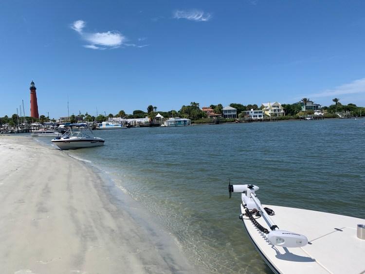 Ponce Inlet lighthouse island boating florida saltwater