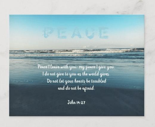 Christian postcard scripture about peace