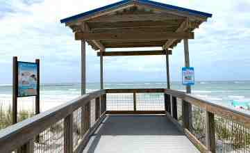 boardwalk end where stairs were