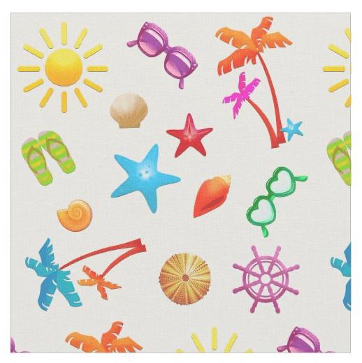 summer fun pattern fabric