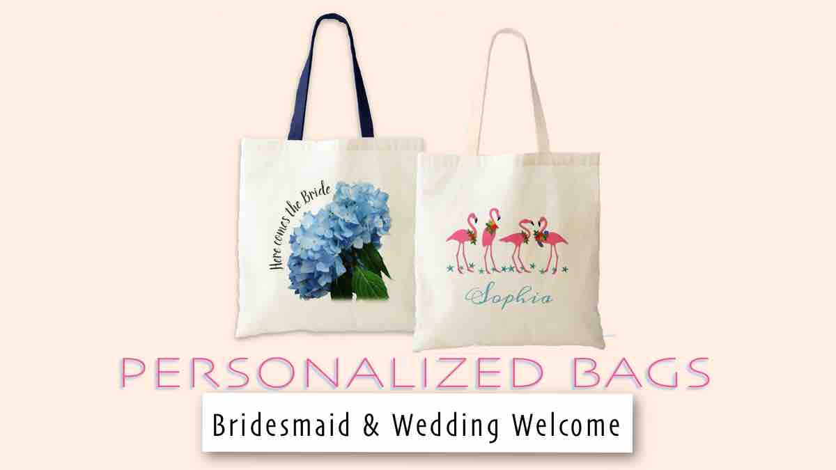 wedding bags for bridesmaids or to welcome guests