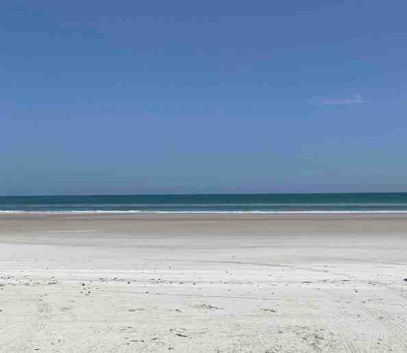 New Smyrna Beach September low tide