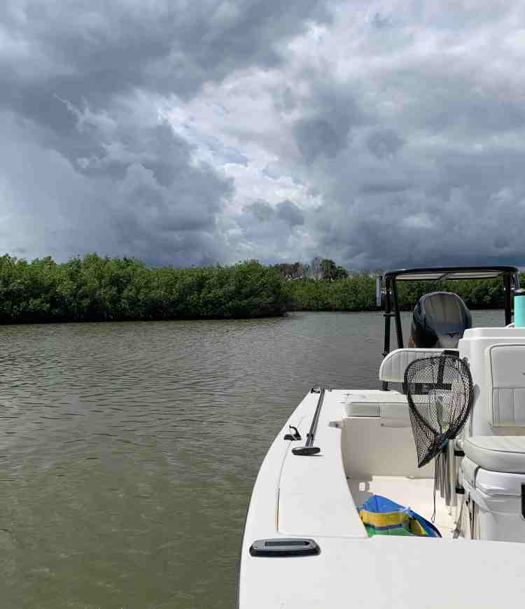 Thunderhead building while out boating