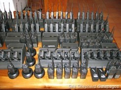 Part of the equipment that was handed over to the police