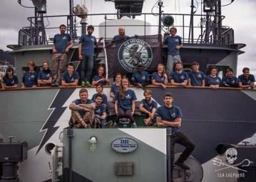 The crew of the Sam Simon for Operation Icefish Photo: Sea Shepherd