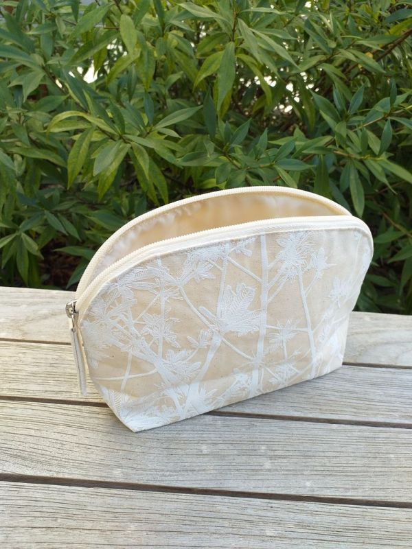 ACN905WP Silk Screened Plastic Lined Cosmetic Bag