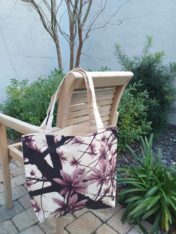 AFT634R 100 Cotton Canvas Silk Screened Handy Tote