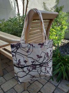 AFT822R 100 Cotton Canvas Silk Screened Handy Tote