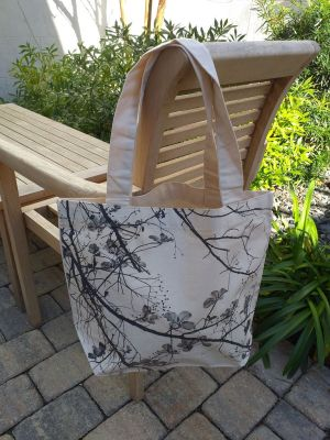 AFT843 100 Cotton Canvas Silk Screened Handy Tote