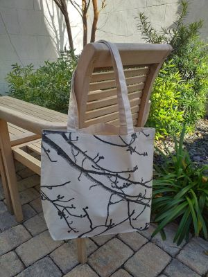 AFT867 100 Cotton Canvas Silk Screened Handy Tote