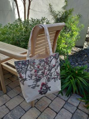 AFT895R 100 Cotton Canvas Silk Screened Handy Tote