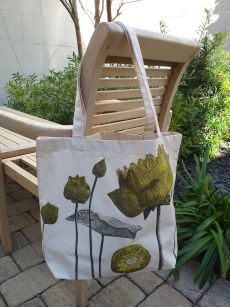AFT906G 100 Cotton Canvas Silk Screened Handy Tote