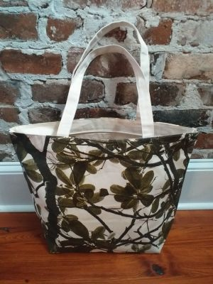 ALT810G Original Silk Screen Photos Large Zipper Tote