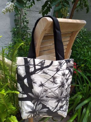ATT634 Light Canvas Silk Screen Tote Nylon Strap
