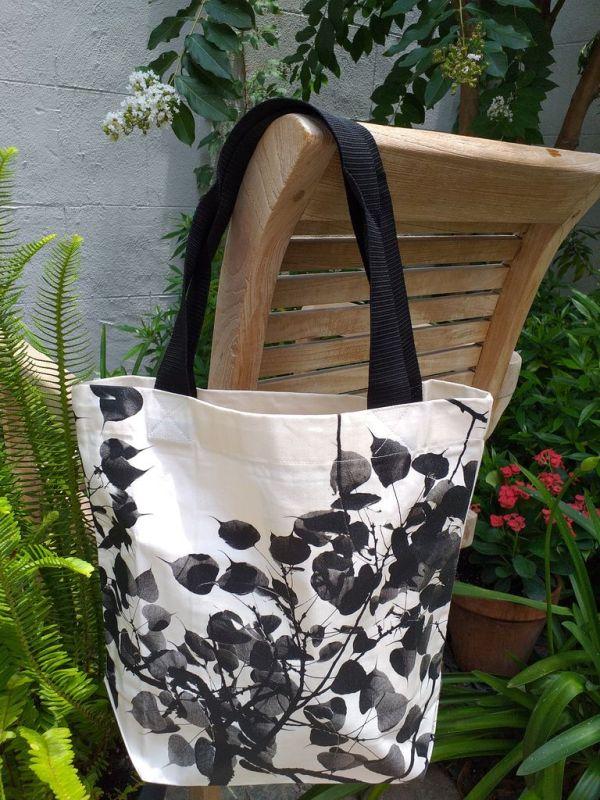 ATT637 Light Canvas Silk Screen Tote Nylon Strap