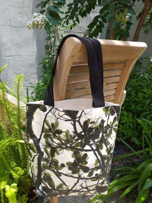 ATT810G Light Canvas Silk Screen Tote Nylon Strap