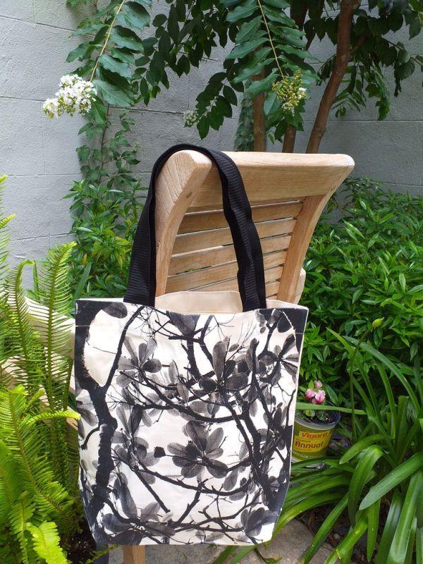 ATT810 Light Canvas Silk Screen Tote Nylon Strap
