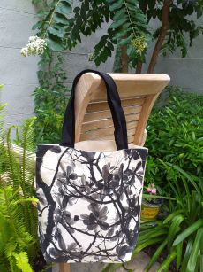 ATT810 Light Canvas Silk Screen Tote Nylon Strap