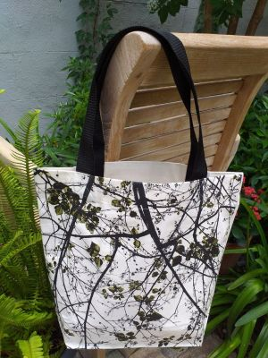 ATT818G Light Canvas Silk Screen Tote Nylon Strap