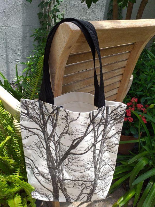 ATT900 Light Canvas Silk Screen Tote Nylon Strap
