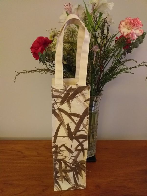 AWT824R Original Silk Screen Gift Wine Bottle Tote