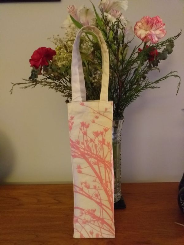 AWT868PP Original Silk Screen Gift Wine Bottle Tote