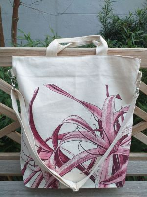 AXT904R Cotton Canvas Silk Screen Cross Body Tote