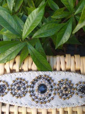 HLB905 Leather Bead Handmade Cuff Bracelet