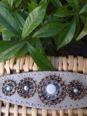 HLB931 Leather Bead Handmade Cuff Bracelet
