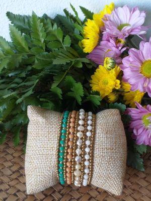 HRB960 Thailand Handmade SemiPrecious Stone Metal Bracelet