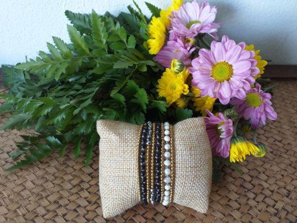 HRB961 Thailand Handmade SemiPrecious Stone Metal Bracelet