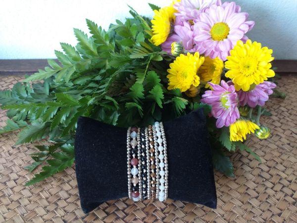 HRB963 Thailand Handmade SemiPrecious Stone Metal Bracelet