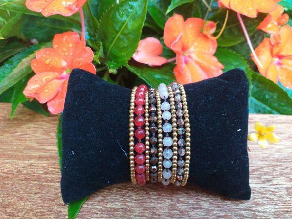 HWB971B Thailand Unique Stone Metal Bead Bracelet
