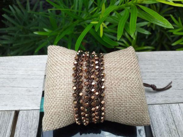 JWB143 Thailand Handmade Stone Bead String Metal Bracelet